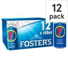 Fosters Lager 12 can pack £7 @ Tesco - 12 x 440ml - £1.33 per litre