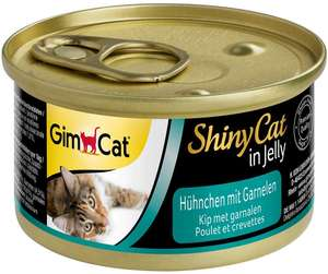 GimCat ShinyCat in Jelly / Cat food with poultry in jelly for cats / Chicken with Shrimp / 24 x 70gAmazon £5.95 Prime / £10.54 non Prime