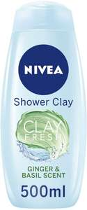 12 Nivea Clay Fresh Deep Cleansing Shower Gel, Ginger and Basil, Shower Cream, 500 ml, Pack of 6 x 2£16.16 Prime / £20.65 non Prime