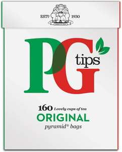 PG Tips 160 Pyramid Tea Bags £1.38 Tesco instore (Andover)