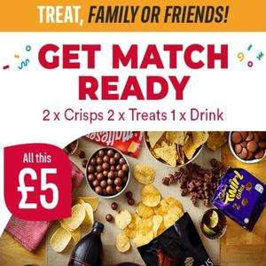 2 x Crisps, 2 x Treats and 1 drink £5 @ Iceland