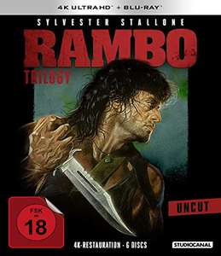 Rambo: Uncut Trilogy 4K UHD Restoration + Blu-Ray Boxset £37.31 Delivered @ Amazon Germany
