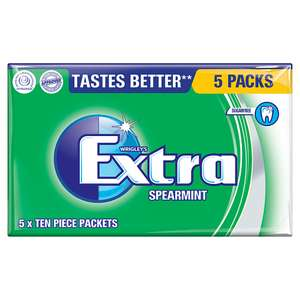 Wrigley's Extra Spearmint Chewing Gum 5 pack 50p in the Co-op