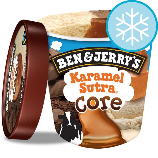 Ben & Jerry's karamel sutra 500ml & Carte dor les supremes pots 50p @ Asda
