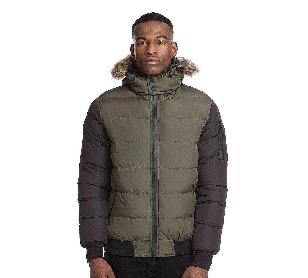 Mens Condemned Nation Belthorn Khaki/Black Jacket £15.99 ebay /  footasylumoutlet
