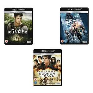 Maze Runner Trilogy (4K blu-ray) £26.98 delivered @ The Entertainment Store eBay