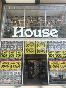 House - Oxford Westgate Closing down sale - 70% off everything
