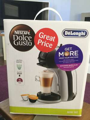 Dolce Gusto Mini Me coffee machine £29 in-store @ Sainsbury's (Newcastle-under-Lyme )