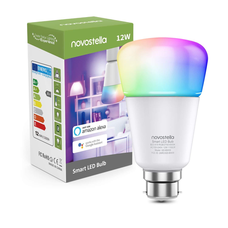 Novostella RGB 12W Smart Bulb B22 1150lm £13.19 using code @ Amazon / Ustellar-EU