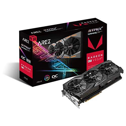 Asus Radeon AREZ Strix RX Vega 56 OC Gaming Graphics Card 8GB HBM2 2xHDMI 2xDP DVI Adapter - Amazon.De £237