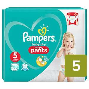Pampers pants and nappies various sizes £3.75 with code @ Ocado