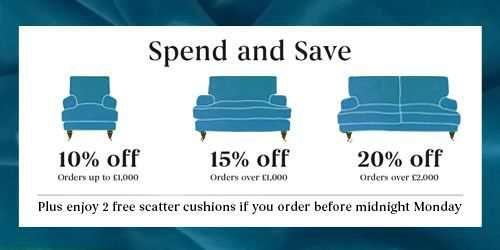 Sofa.com up to 20% off + 2 free cushions