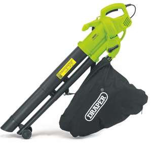 Draper 3000W 3-in-1 Garden Vacuum, Leaf Blower and Mulcher with Large 35L Collection Bag and Long 12m Cable £29.99 @ Robert Dyas