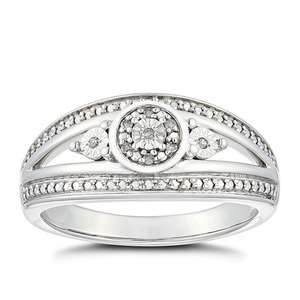 Silver Diamond Eternity Ring £39 with any purchase at H Samuel