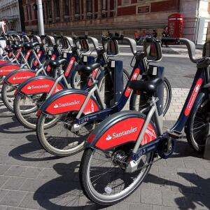 Unlimited 1 year Santander 30 minute Cycle hire for £67.50 (London)