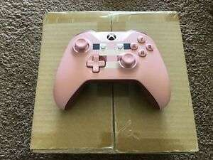 OFFICIAL XBOX ONE MINECRAFT PIG WIRELESS CONTROLLER BRAND NEW 3.5MM without retail packing. £40.99  games_consoles_uk  ebay