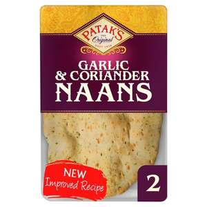 Pataks Garlic & Coriander Naan Bread 2 Pack Only 64p @ Tesco