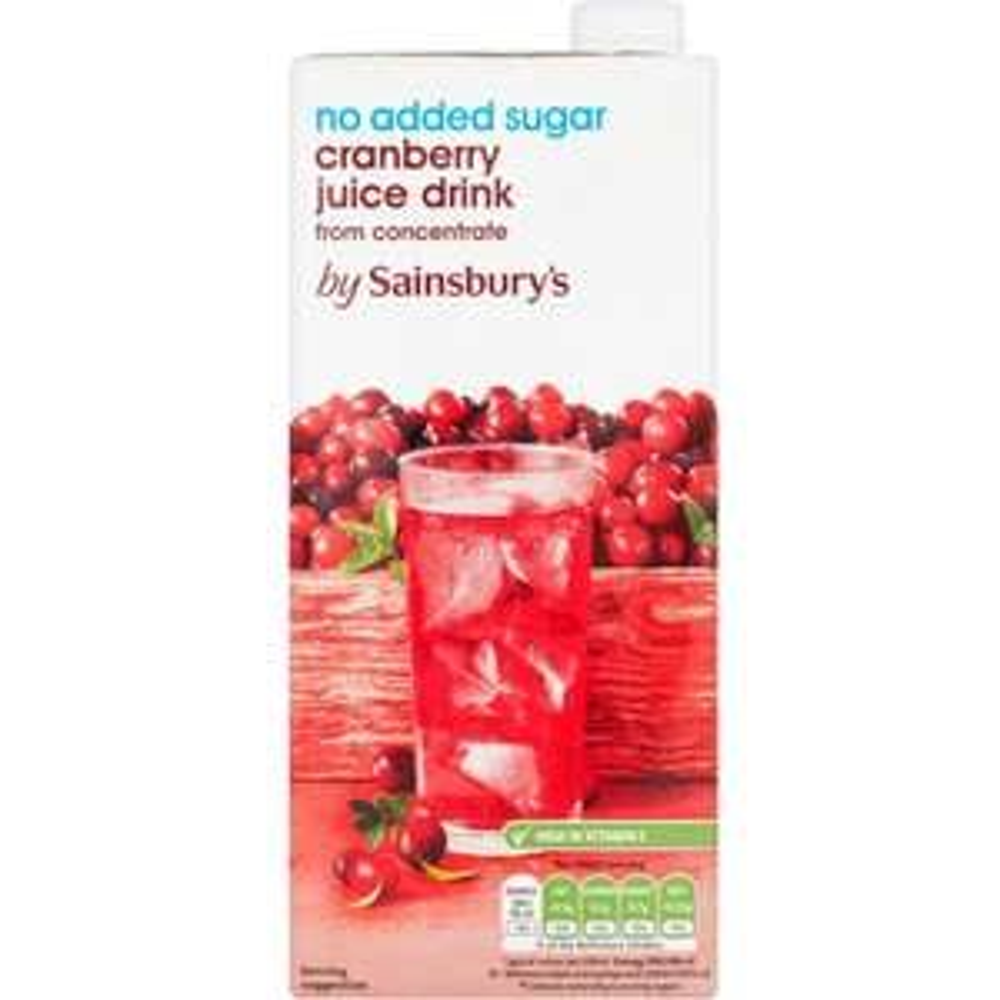 Sainsbury's 4 x 1L Cranberry Juice (NAS) Family Pack - 20p @ Sainsburys (Cardiff)