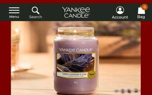 Yankee candle 20% off