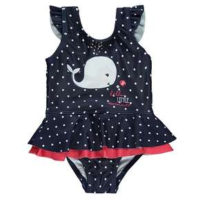 1/2 Price : Little Swimmer Whale Frill Swimsuit All Sizes Upto 18 Months, Now £3 @ Asda (Free Click & Collect)