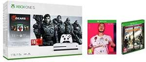 Xbox One S 1TB Console - Gears 5 Bundle + Tom Clancy's The Division 2 Limited Amazon Edition + FIFA 20 £199.99 @ Amazon