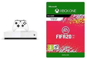 Xbox One S 1 TB All-Digital Edition Console + FIFA 20 - Xbox One - Download Code £169.99 @ Amazon