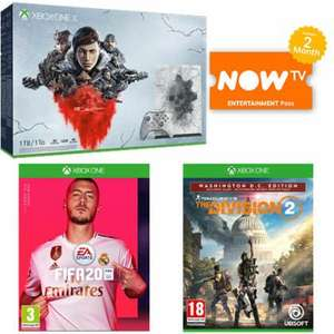 Xbox One X 1TB Gears 5 Limited Edition Bundle Inc Gears 1 - 5, Fifa 20, Division 2 Washington Edition & Now Tv Pass £399 @ Game