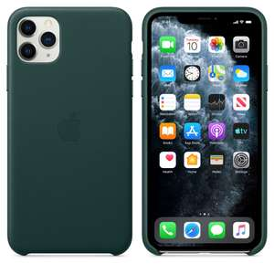 Apple Leather Case (for iPhone 11 Pro) - Black, Midnight Blue or Saddle Brown £44 Amazon