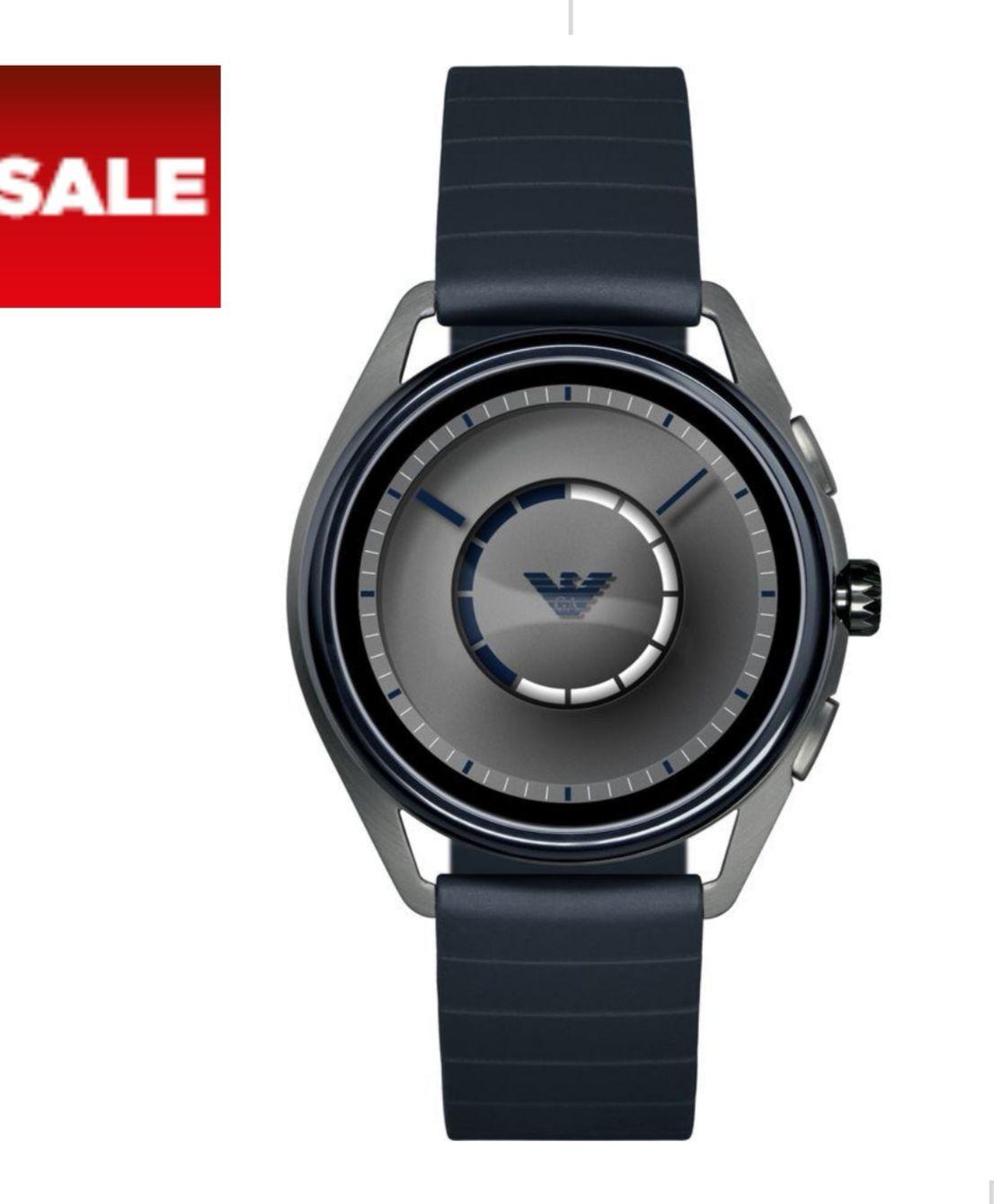 Emporio Armani smart watch ART5008 £199. Gunmetal & blue IOS/Android. Currys