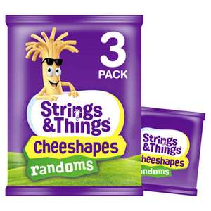 Strings and Cheese Cheeshapes randoms 3 pack 29p at Farmfoods
