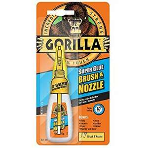 Gorilla super glue with brush  12g - £1.88 instore at Tesco st Austell Cornwall