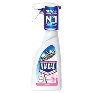 """Viakal Limescale Spray With Febreeze 500Ml 1/2 price- £1.50 in Tesco stores & online, includes the vinegar and original """"flavours"""""""