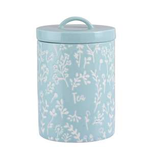 Embossed Floral Tea Canister £1.50 @ Asda George + free click & collect