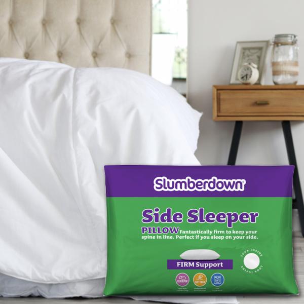 Slumberdown Side Sleeper Firm Pillow +  All Seasons Single 3 in 1 Combi Duvet 4.5 - 13.5 Tog £11.99 @ Sleepseeker