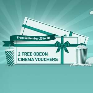 2 Free Odeon Cinema Tickets when you spend £7 on Films, TV Series, Merchandise @ Chili