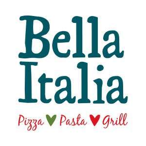 Bella Italia £5 pizza or pasta Valid from 12 noon every Tuesday with voucher