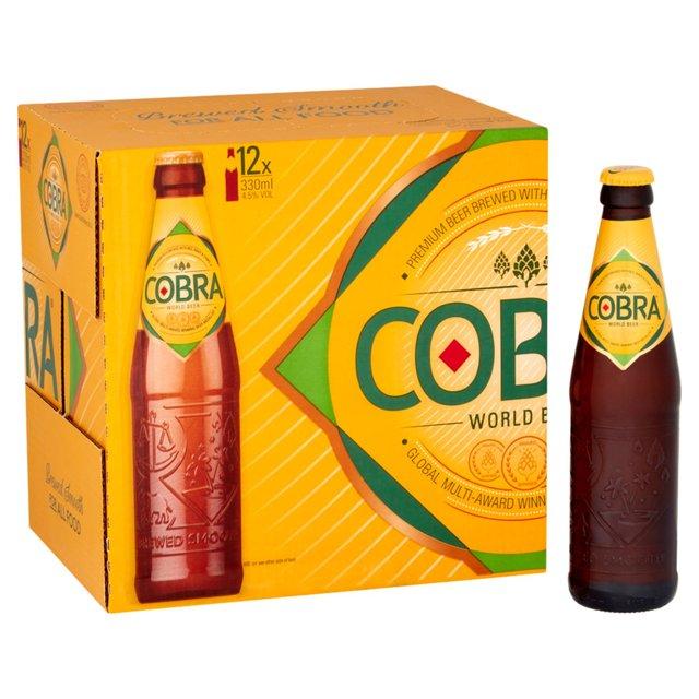 Cobra World Beer 12X330ml for £7 @ Tesco