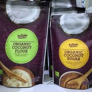 The Foodie Market Organic Coconut Flour and Sugar Gluten Free 300g / 250g Aldi - 9p