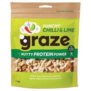 Graze Punchy Chilli & Lime Nutty Protein Power Sharing Bag - 90p instore @ Co-operative Manchester