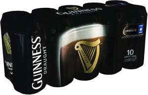Guinness Draught 10 or 8 pack of 440ml cans  £7.99@ B&M