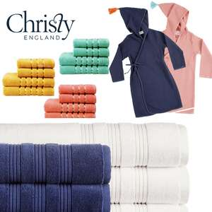 Upto 50% + Extra 20% Discount and Free Delivery on Selected Items using code - Items from £1.20 Delivered @ Christy Towels