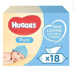 Huggies Pure Baby Wipes, 18 Packs (1008 Wipes) £10.50 @ Amazon (£14.99 Non-prime)