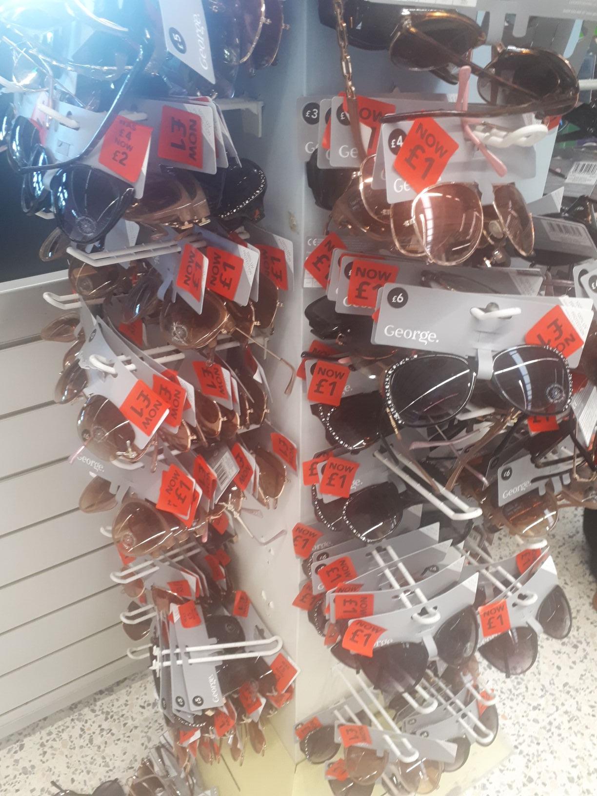 Sunglasses £1 each @ Asda Abbey Lane