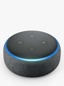 Amazon Echo Dot Smart Device with Alexa, 3rd Generation, Black, £34.99 from John Lewis & Partners  with their two-year guarantee included