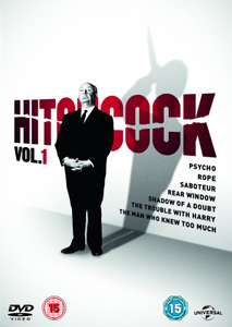 Hitchcock Volume 1 Box Set DVD Zoom £3.99 for 7 Films at Zoom