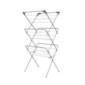 Addis 3 Tier Airer With Hooks- with code £8.99 with code at Robert Dyas