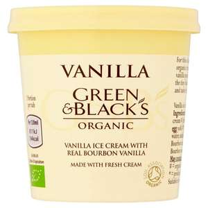 Green and Blacks ice cream £1 at Sainsbury's instore