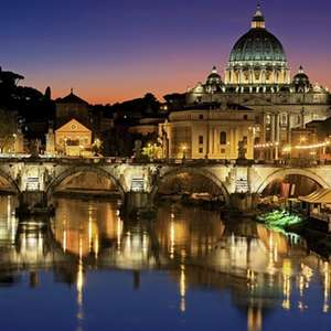 2 nights for 2 People in Rome at £73 each (£146.15 total - min 2 people) at a Choice of Hotels with Breakfast and Flights @ Groupon