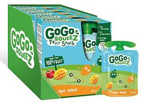 GoGo squeeZ Apple Mango Puree Pouches Multipack 20 x 90g. £5.75 (Amazon add-on)