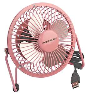 "Pink 4"" Mini USB Desk Fan £3.94 @ CPC Farnell"